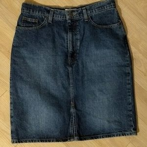 Denim Skirt 10 St. John's Bay Blue Jean Size 10
